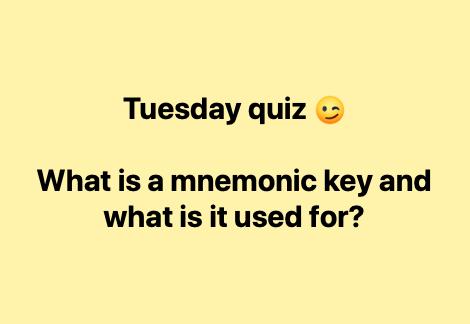 Mnemonic Key